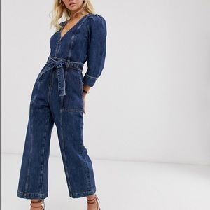NWT & Other Stories Belted Denim Jumpsuit
